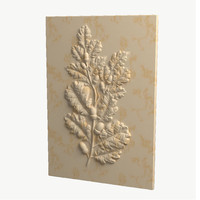 3d oak relief
