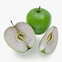 apple fruit 3d max