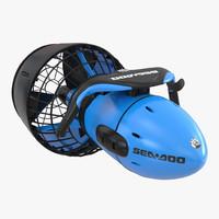 3d sea scooter diver propulsion model