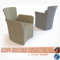 3d model photorealistic chair calligaris nido