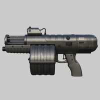 3d model fantastic machine gun