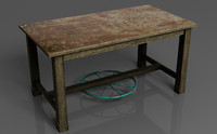 3d kitsch shabby chic table model