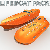 3d lifeboat pack model