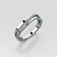 3d model wedding ring gemstones