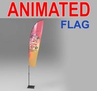 3d advertising flags model