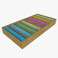 3d chalk box model
