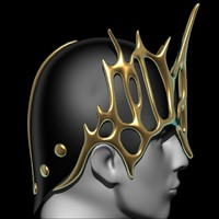 3d model battle crown