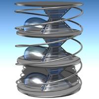 3ds futuristic building