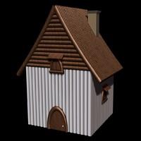 house wood 3d 3ds