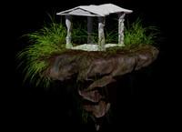 3d model temple island