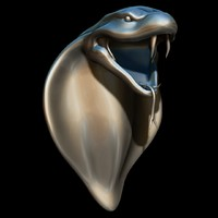 snake head sculpture 3d model