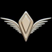 wings crest 3d 3ds