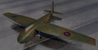 3d general aircraft gal-49 hamilcar model