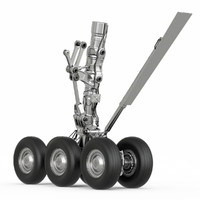 3d chassis aircraft model