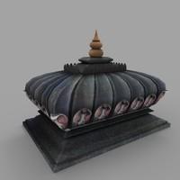3d prop tomb 04 model