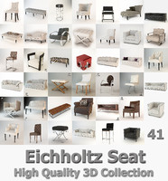 eichholtz seat collected 3d model