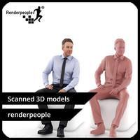 photorealistic human dennis 0277 3d model