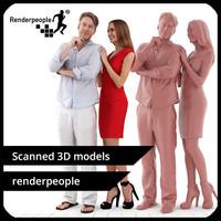 3d model photorealistic human dennis julia