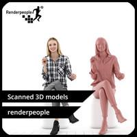 3d model photorealistic human janna 0389