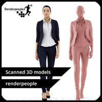 3d photorealistic human jessica 0323 model