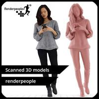 photorealistic human mei 0339 3d model