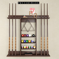 3d model cue stick storage rack