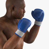 african american boxer 2 3d model