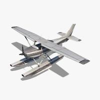 3d cessna 182 skylane seaplane