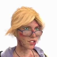 3d bruised girl model