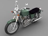 3d model of generic motorbike