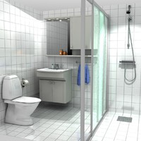3d model bathroom shower