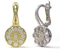earrings 3d 3ds