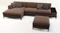 3d sofa artis leather model