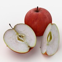 photorealistic red apple max