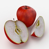 3d photorealistic red apple