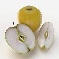 max photorealistic yellow apple fruit