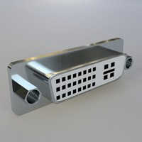 dvi panel mount connector 3ds