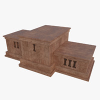 subdivision sports podium 3d obj