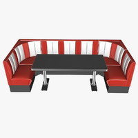50 s style booth 3d model
