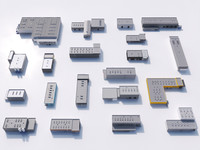 industrial building set 3d max