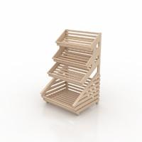 3d bread rack bakeries model
