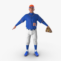 baseball player generic 4 3d model