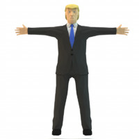 donald trump 3d 3ds