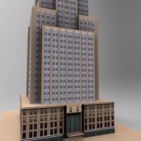 3d rise building model