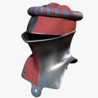 medieval jousting helmet paint c4d
