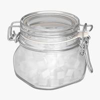 sugar canister 03 3d model