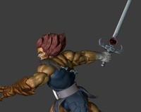 3d model lion-o sculpt