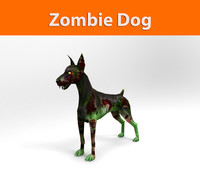 3d model zombie dog character