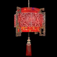 3d chinese lantern red model