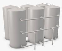 3d model of industrial boilers